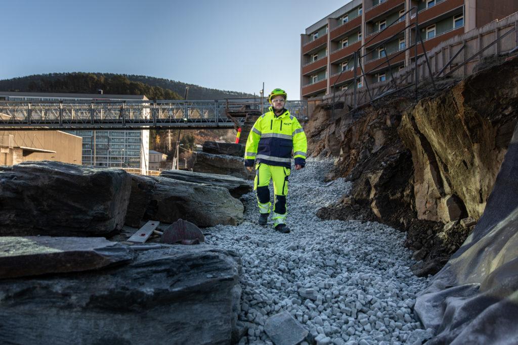 byggarbeider på Glaspor i Bergen